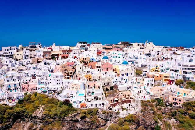 Santorini Cave Houses, Griechenland, Greece