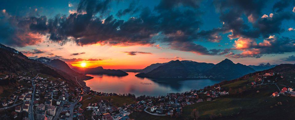 Panorama Vierwaldstädtersee, Schweiz